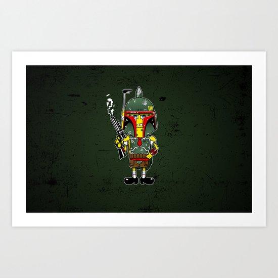SpongeBoba Fett - Star Wars Spongebob mashup Art Print