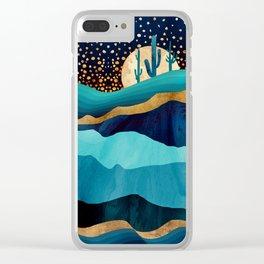 Indigo Desert Night Clear iPhone Case