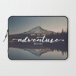 Trillium Adventure Begins - Nature Photography Laptop Sleeve