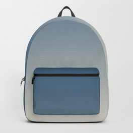 Blue & Linen White Gradient Ombre Blend Pairs To 2020 Color of the Year Chinese Porcelain PPG1160-6 Backpack