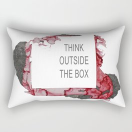 Think Outside The Box - Red Rectangular Pillow