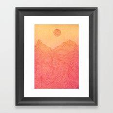 Sunset Mountain - 2 Framed Art Print