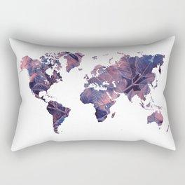 world map 76 purple Rectangular Pillow