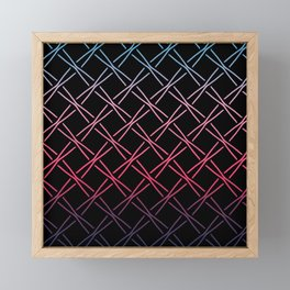 Fences Abstract Ombre Framed Mini Art Print