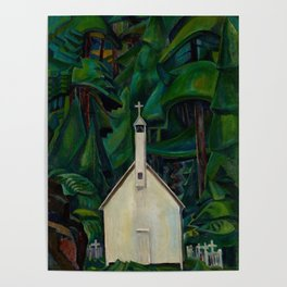 Emily Carr Indian Church Poster
