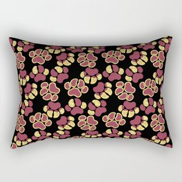 Magenta Cute Paws Rectangular Pillow