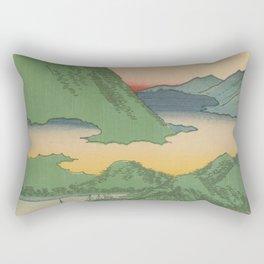 Mountain and Sea Ukiyoe Landscape Rectangular Pillow