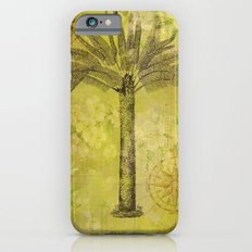 Vintage Journey palmtree typography travel collage iPhone 6s Slim Case