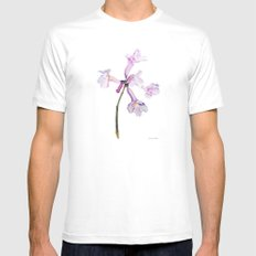 Flowers of the tree *Handroanthus sp* Mens Fitted Tee White MEDIUM