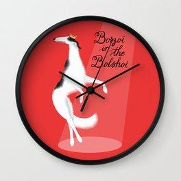 Borzoi in the Bolshoi Wall Clock