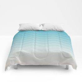 Deeb blue sea waves Comforters
