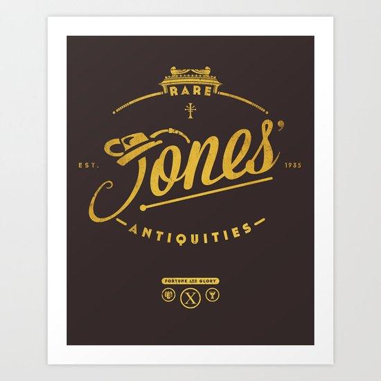 """Jones' Rare Antiquities"" - gold version Art Print"