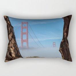 Fog and Golden Gate Rectangular Pillow