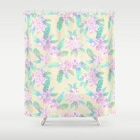 Tahitian Garden {I} Shower Curtain