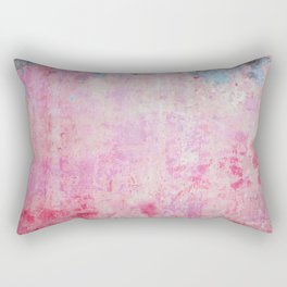 abstract vintage wall texture - pink retro style background Rectangular Pillow