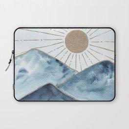 Indigo & gold landscape 1 Laptop Sleeve