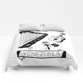 Venezuelan Tipical Music Instruments Comforters
