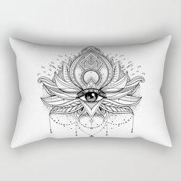 Lotus flower + All seeing eye. Rectangular Pillow
