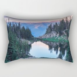 Hikers Bliss Perfect Scenic Nature View \ Mountain Lake Sunset Beautiful Backpacking Landscape Photo Rectangular Pillow
