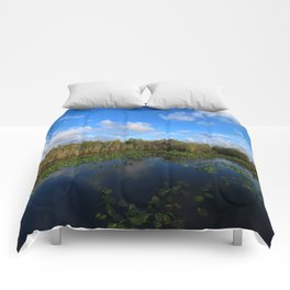 Blue Hour In The Everglades Comforters