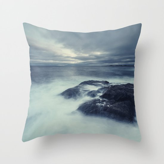 Washed in Atlantic Throw Pillow
