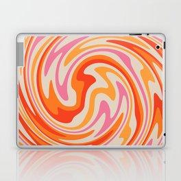 70s Retro Swirl Color Abstract Laptop & iPad Skin