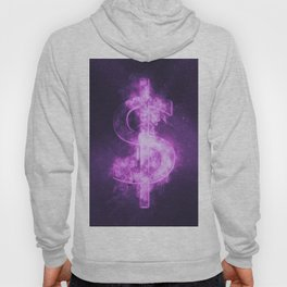 Dollar sign, Dollar Symbol. Monetary currency symbol. Abstract night sky background. Hoody