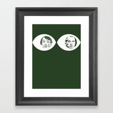 Peepers - Peep Show Framed Art Print