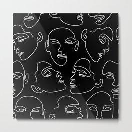 Face In The Dark Metal Print