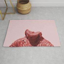 Shy red girl Rug