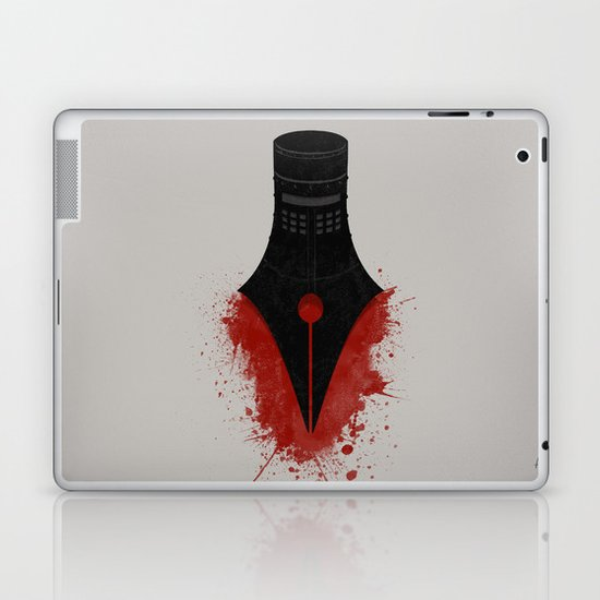 The sword is mightier than the pen Laptop & iPad Skin