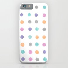 Watercolor dots Slim Case iPhone 6s