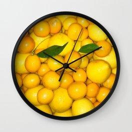 Bright Lemons & Kumquats Wall Clock