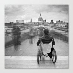 Invisible, Millennium Bridge, London Canvas Print