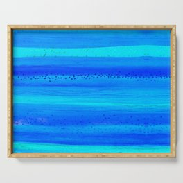 Blue Sky Blue Waters Serving Tray