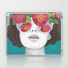 The optimist // rose tinted glasses Laptop & iPad Skin