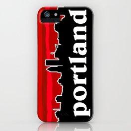 Portland Cityscape iPhone Case