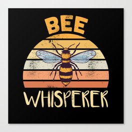 Funny Beekeeping Bee Whisperer Gift Canvas Print