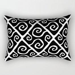 Diamond Pattern Black-White Rectangular Pillow