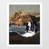 breaking Art Prints featuring Breaking by Lindsey Boss