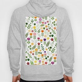 Scandinavian Style Flora & Fauna Pattern Hoody
