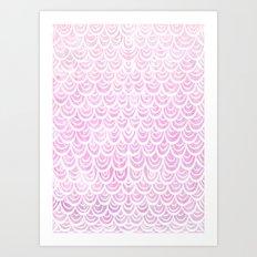 Watercolor Mermaid Fairytale Pink Art Print