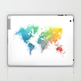World Map splash 1 Laptop & iPad Skin