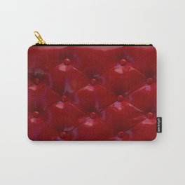 Red Leather Upholstery Carry-All Pouch