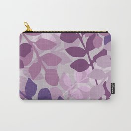 Ultra Violet Purple Lavender Leaves Pattern Carry-All Pouch