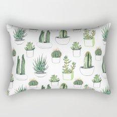 watercolour cacti and succulent Rectangular Pillow