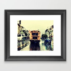 frisco kid // yellow bus Framed Art Print