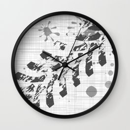 Grunge Tyre Marks Wall Clock