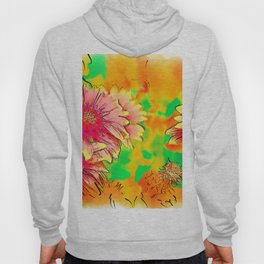 Fall Flowers In Soft Abstract Hoody