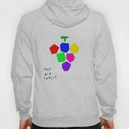 Food Illustration Colorful Fruit Kitchen Art - One Big Family Grapes Hoody